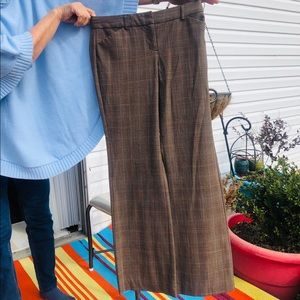 Express Editor pants with peach stripe